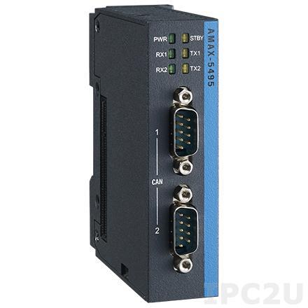 AMAX-5495-A Коммутационный модуль для контроллера AMAX-5580-54000A 2xCAN, питание 24В DC
