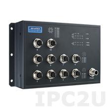 EKI-9510E-2GPH-AE Неуправляемый коммутатор Ethernet, 10 портов M12 PoE, питание 72/96/110В DC, EN50155