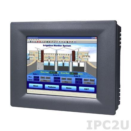 "TPC-61T-E3AE Безвентиляторная панельная рабочая станция с 5.7"" QVGA TFT LED LCD, сенсорный экран, TI Cortex-A8, 256Мб DDR2, 1xLAN, 3xCOM, 2xUSB, карта MicroSD 512Мб с ОС Windows CE 6.0, передняя панель с защитой NEMA4/IP65"