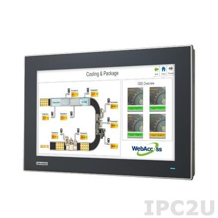 """FPM-7151W-P3AE Промышленный 15.6"""" TFT LCD LED монитор, 1366x768, яркость 300 нит, емкостный сенсорный экран (RS-232 & USB), VGA, DVI, адаптeр питания 100-240В AC DC 57Вт"""