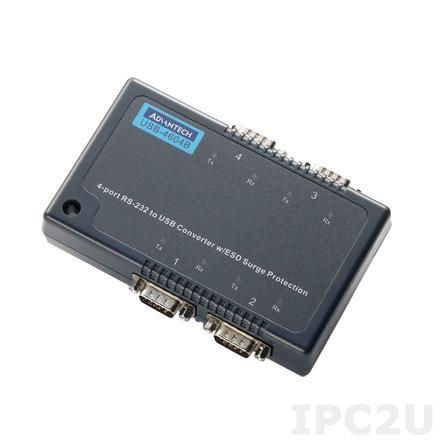 USB-4604B-BE Конвертер USB в 4xRS-232 разъем DB9 Male, кабель USB, драйверы Win 10
