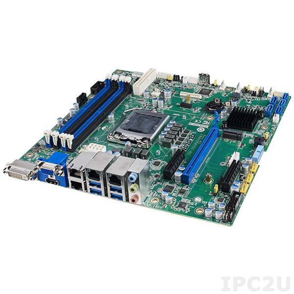 ASMB-587G2-00A1 Серверная плата Micro-ATX, поддержка Intel Core i3/i5/i7 10th Gen Xeon W, LGA1200, 4xDDR4 2133/2400/2666 МГц до 128ГБ ЕСС, DVI-D, VGA, HDMI, 2xCOM, 9xUSB, 2xGbE LAN, 1xSMBus, 5xSATA III, RAID 0,1,5,10, Аудио, питание 12 В DC