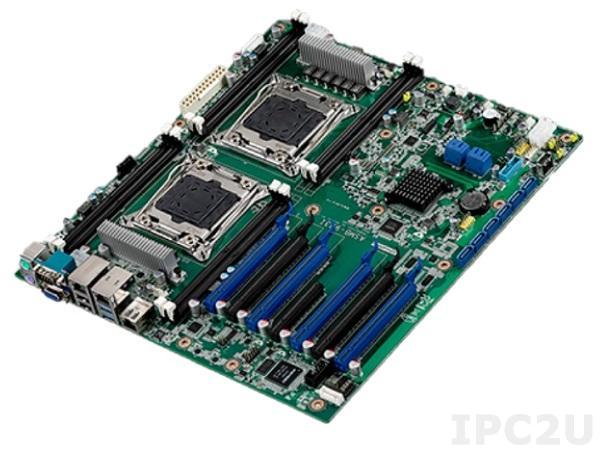 ASMB-923I-00A1E Серверная плата EATX, поддержка 2-х Intel Xeon E3-2600 v3/v4, Intel C612, 8х288-pin DDR4 до 256 Гб ECC-REG, 10xSATA III RAID 0/1/5/10, VGA, 2xGbE LAN IPMI, 4xUSB, 1xPS/2, 4xPCIe x16, 2xPCIe x16 (x8), 1xPCIe x8 (x4), SMBus, Audio, питание 12 В
