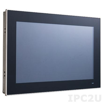 "PPC-3150SW-PN4A Панельная рабочая станция с 15.6"" TFT WXGA LED, проекционно-емкостный сенсорный экран, Intel Pentium N4200 1.1ГГц, DDR3L, HDMI, 2xGbE LAN, 2xCOM, 2xUSB 3.0, 2xUSB 2.0, отсек 2.5"" SATA, mSATA, MiniPCIe, Audio"