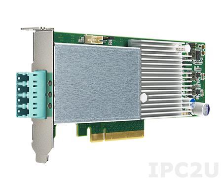 PCIE-2221BP-00A1E Сетевой адаптер 10GbE Ethernet, 2 порта SFP+ с bypass, контроллер Intel XL710-BM2, PCI Express x8 gen. 3