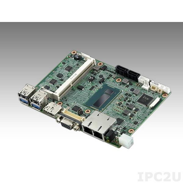 "MIO-5271U-S6A1E Процессорная плата фомата 3.5"" Intel Core i5-4300U 1.9ГГц, DDR3L,VGA, HDMI/DP, 48-bit LVDS, 2GbE, 2 x Mini PCIe, mSATA, MIOe"