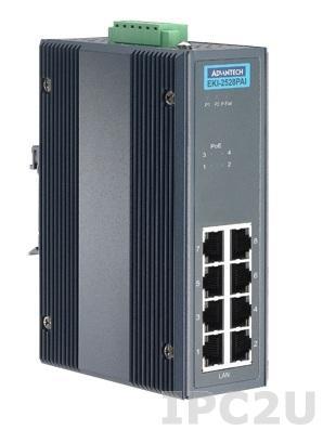EKI-2528PAI-AE 8-портовый неуправляемый коммутатор 10/100Mbps Ethernet, 4xPoE, -40...+75C