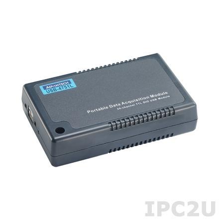 USB-4751L-AE Модуль ввода-вывода, 24 настраиваемых каналов DI и DO, USB