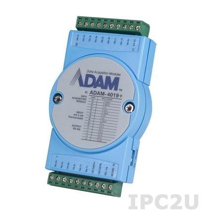 ADAM-4019+-AE Модуль ввода, 8 универсальных каналнов аналогово ввода, Modbus RTU/ASCII