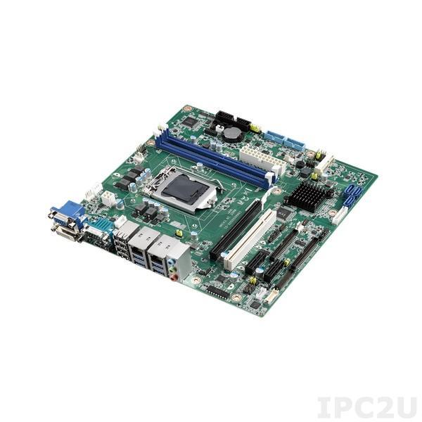 AIMB-505L-00A1E Процессорная плата Micro-ATX, H110, Core i7/i5/i3, LGA 1151, до 32ГБ DDR4 DIMM, VGA, DVI-D, DP, 3xSATA, 2xUSB 3.0, 6xUSB 2.0, 2xCOM, 1xGbE LAN, 1xPCIe x16, 2xPCIe x1