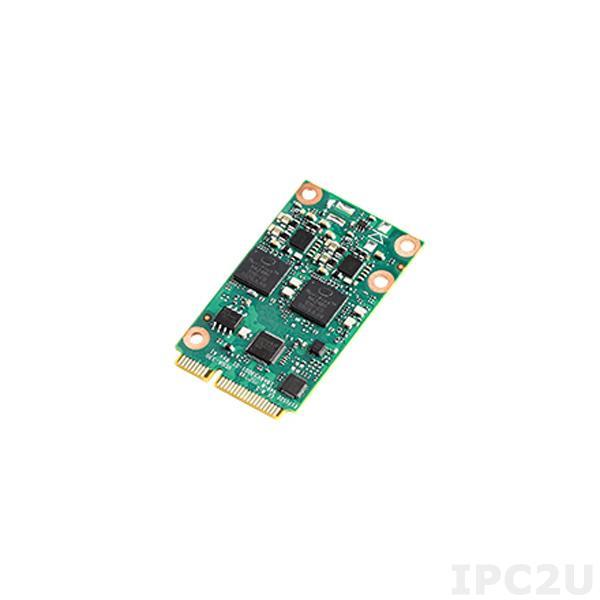VEGA-330-01A1 Процессорная плата для увеличения производительности систем машинного зрения с 1xIntel Movidius Myriad X MA2485 VPU, miniPCIe, совместимость с Windows 10 x64, Ubuntu 16.04, CentOS 7.4, OpenVINO R2 2019, размеры 30x50.95x4.86mm, мощность 3.8Вт -20~60C