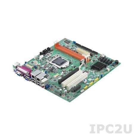 AIMB-501G2-KSA1E Процессорная плата Micro-ATX, H61, c Intel Core i7/i5/i3, LGA1155, до 16Гб DDR3 DIMM, 2xVGA, LVDS, 2xGbE, 4xSATA, 10xCOM, 10xUSB, слоты расширения 1xPCIe x16, 1xPCIe x1, 2xPCI