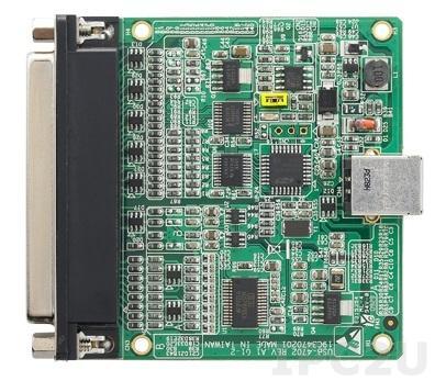 USB-4702-AE Плата ввода-вывода, 8xAI 10 кГц, 2xAO, 8xDI, 8xDO, USB
