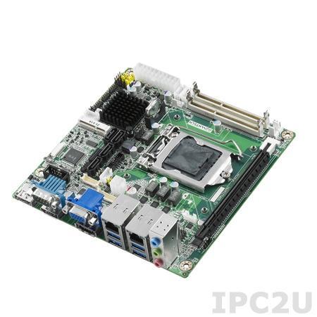 AIMB-274G2-00A1E Процессорная плата Mini-ITX, сокет LGA1150 для Intel Core i7/i5/i3, Чипсет Q87, до 16Гб DDR3/DDR3L SO-DIMM, VGA, HDMI, LVDS, 2xGb LAN, 2xCOM, 10xUSB, 4xSATA, 1x eSATAслоты расширения 1xPCIe x16, 2xMini-PCIe