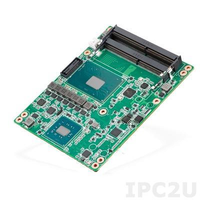 SOM-5897C3-S9A1E Процессорная плата COM Express c процессором Intel Core i3-6102E 1.9ГГц, DDR4, VGA/LVDS/DDI, Gb LAN, 2xCOM, 4xUSB 3.0, 4xUSB 2.0, 4xSATA III, 2xExpress Card, SMBus, I2C, PCIe x16, 8x PCIe x1, Audio