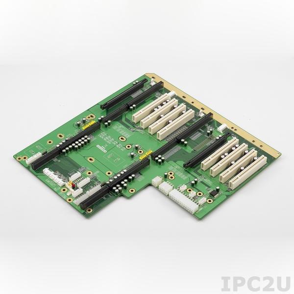 PCE-5B12D-04A1E Объединительная плата PICMG 1.3, 2 сегмента, 12 слотов, 1xPICMG 1.3, 4xPCI, 1xPCIe x16, 6xPCI-X
