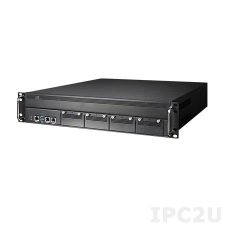 "FWA-4130L-0000E Сервер сетевой безопасности 2U, Intel Core i3/i5/i7 6th/7th Gen, Xeon E3 v5/v6, C236, 4x288-pin DDR4 2133/2400MHz UDIMM до 64 Гб ECC, 2xGbE LAN Bypass, 2x3.5"" SATA, 4xNMC, 2xUSB 3.0, 1xmSATA, источник питания (1+1) 300 Вт"