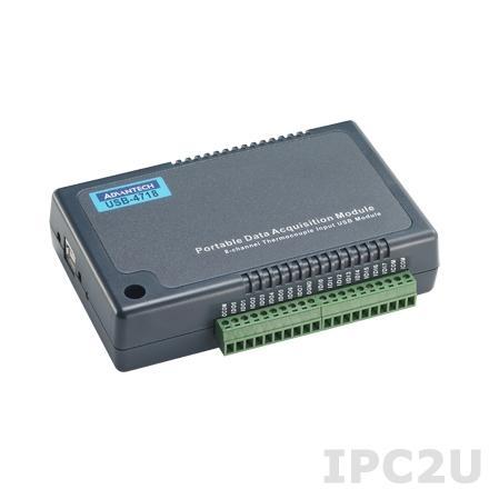 USB-4718-AE Модуль ввода-вывода, 8 каналов аналогового ввода или сигналов с термопар, 10 Гц, 8xDI, 8xDO, USB
