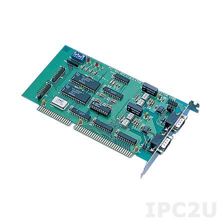 PCL-841-A2E ISA адаптер 2xCAN, 2xDB9 Male c изоляцией