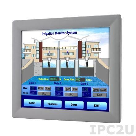 """FPM-2170G-R3BE Промышленный 17"""" TFT LCD LED монитор, 1280x1024, яркость 350 нит, резистивный сенсорный экран (RS-232 & USB), VGA, адаптeр питания 100-240В AC DC 60Вт"""