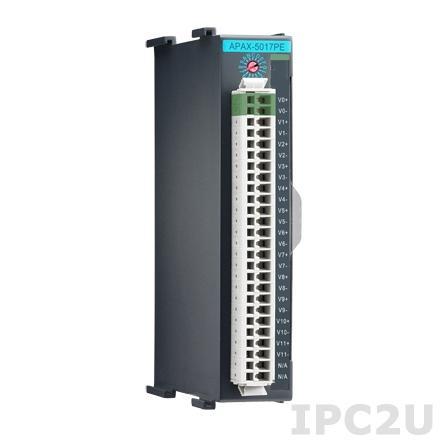APAX-5017PE-AE Модуль ввода, 12 каналов аналогового ввода, соответствие IEC 61850-3
