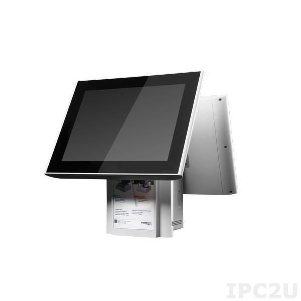 "UPOS-315A-P0W0E Панельная рабочая станция с 15"" TFT LCD, емкостный сенсорный экран (TFlat), Intel Core i3-4010U 1.7ГГц, 1xSO-DIMM DDR3, 1x2.5"" SATA HDD/SSD, 1xDP/HDMI, 1xDP++, 2xCOM, 5xUSB, 2xGbE LAN, Аудио, 1xMini PCIe/mSATA, питание 100-240В AC, белый"