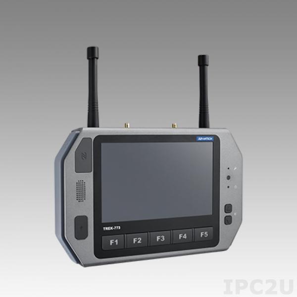"""TREK-773R-00A0E Переносной компьютер с 7"""" WVGA TFT LCD, резистивный сенсорный экран, GB LAN, USB 3.0, SIM слот, CAN Bus, DIO, CVBS, J1708, Audio, LTE(EU), GPS, WLAN, BT, NFC, CFA, -30...+60C"""