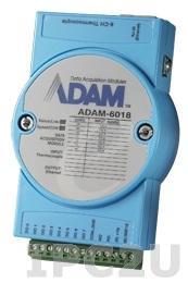 ADAM-6018+-D Модуль ввода-вывода, 8 каналов аналогового ввода сигналов с термопары, 1xEthernet, Modbus TCP