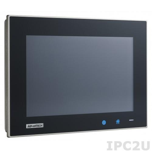 "TPC-1051WP-E3AE Безвентиляторная панельная рабочая станция с 10.1"" TFT LED LCD, емкостный сенсорный экран, Intel Atom E3827 1.75ГГц, 4Гб DDR3L, 1xCFast, 2xCOM, 1xUSB 2.0, 1xUSB 3.0, 2xLAN, 1xMini-PCIe, питание 24В DC"