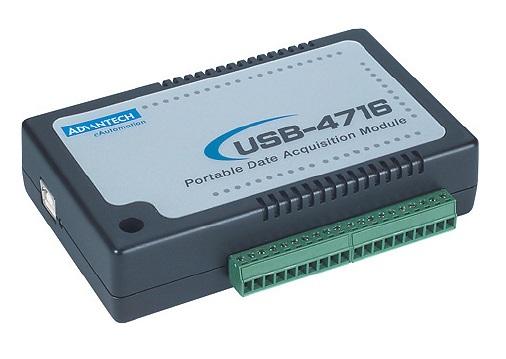 USB-4716-AE Модуль ввода-вывода, 16xAI 200 кГц, 2xAO, 8xDI, 8xDO, USB