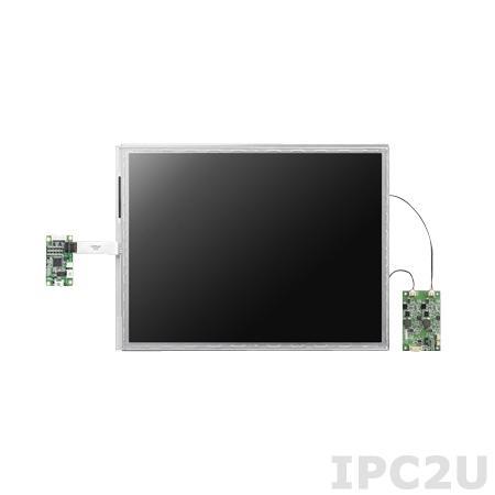 "IDK-2115R-K2XGB1E 15"" LCD 1024 x 768 Open Frame дисплей LED, 1200нит, резистивный сенсорный экран (USB), LVDS"