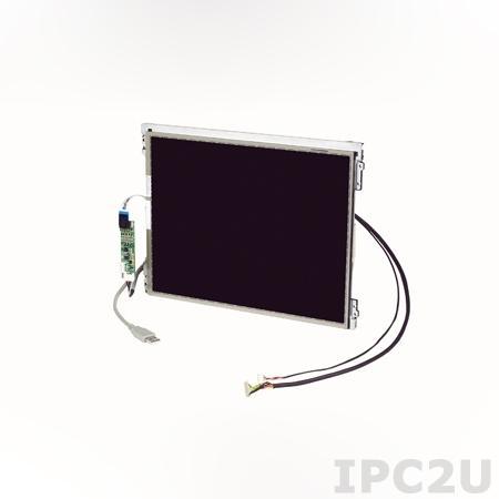 "IDK-1108R-45SVA1E 8.4"" LCD 800 x 600 Open Frame дисплей LED, 450нит, резистивный сенсорный экран (USB), LVDS"