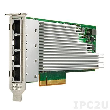 PCIE-2231NP-00A1E Сетевой адаптер 10GbE Ethernet, 4 порта RJ45, на базе Intel XL710-BM1, PCI Express x8 gen. 3, низкопрофильный