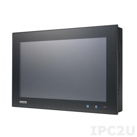 "PPC-4151W-R3AE Безвентиляторная панельная рабочая станция с 15.6"" TFT LCD LED, резистивный сенсорный экран, Intel Core i3-4010U, 1xSO-DIMM DDR3L, 1x2.5"" SATA HDD, 1xmSATA, 5xCOM, 5xUSB, VGA, DisplayPort, 2xLAN, 1xMiniPCIe, 1xPCIe x1, Аудио, питание 9-32В DC"