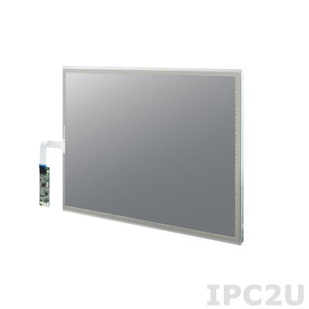 "IDK-1115R-40XGC1E 15"" LCD 1024 x 768 Open Frame дисплей LED, 400нит, резистивный сенсорный экран (USB), LVDS"