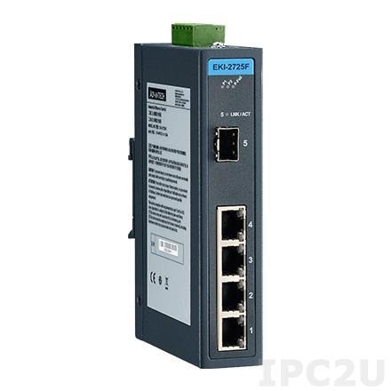 EKI-2725F-AE Неуправляемый коммутатор Ethernet, 4 порта Gigabit Ethernet RJ-45 + 1 порт SFP
