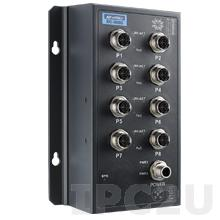 EKI-9508G-L-AE Неуправляемый коммутатор Ethernet, 8 портов M12, питание 24/48В DC, EN50155