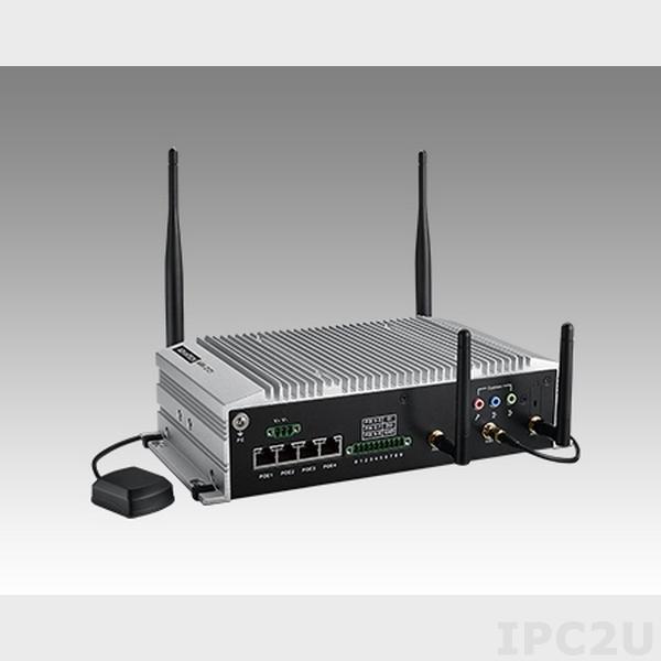 """ARK-2151S-S9A1E Встраиваемый компьютер c Intel 4th Gen Core i5-4300U 1.9ГГц, до 8ГБ DDR3L, GT2-4400, VGA, HDMI, 2GBexLAN, 4xLAN PoE, 4xUSB, 6xDI, 2xDO, Audio, 4x mPCIe,отсек для 2.5"""" SATA HDD, 9-36 DC"""