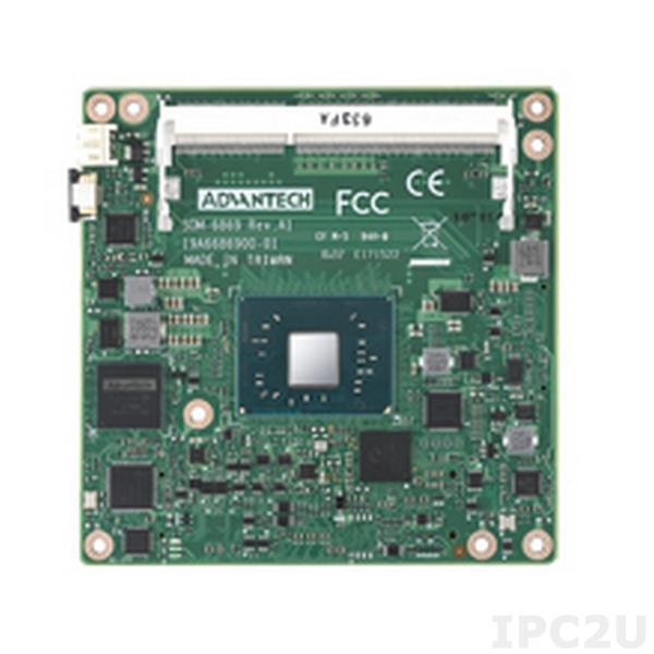 SOM-6869RC-S1A1E Процессорная плата COM Express Basic R2.1 Type 6, Intel Celeron N3350, 2xSODIMM DDR3L до 8Гб, 18/24-bit LVDS, VGA, 2xDDI, 1xGbE LAN, 2xUSB 3.0, 8xUSB 2.0, 2xSATA III, 5xPCIe x1, HD Audio