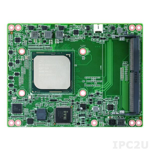 SOM-5991X8-U0A1E Процессорная плата COM Express, Intel Xeon D-1548 2.0ГГц, 4x260p SODIMM DDR4 2400МГц до 32ГБ, 9xPCIe, ECC, LPC, SMBus, 1xLAN, 4xSATA3, 8xUSB, 2xCOM, TPM