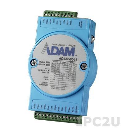 ADAM-6015-DE Модуль ввода, 7 каналов аналогового ввода сигнала с термосопротивление, 1xEthernet, Modbus TCP