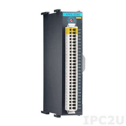 APAX-5080-AE Модуль ввода, 4 каналов счетчика и частотомера, 4 каналов дискретного ввода, 4 каналов дискретного вывода