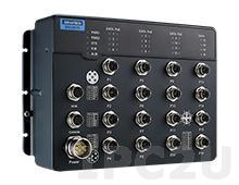 EKI-9516G-4GMX Управляемый коммутатор для транспорта, 16 портов M12 X-Coded 10/100/1000 Mbps PoE, EN50155, IP67, разъемы M12, -40...75C, 24...110В DC