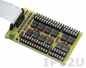 PCLD-785B-AE Выносная плата 24 реле (12В) с перекидными контактами(120Vac@0.5A, 30Vdc@1A), совместима с Opto-22