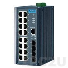 EKI-2720G-4F-AE Неуправляемый коммутатор Ethernet, 16 портов Gigabit Ethernet RJ-45 + 4 оптоволоконных порта SFP, -10...+60C