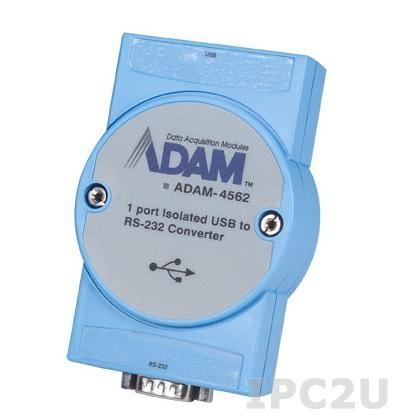 ADAM-4562-AE Конвертер USB в RS-232, изоляция, кабель USB, драйверы Win 10