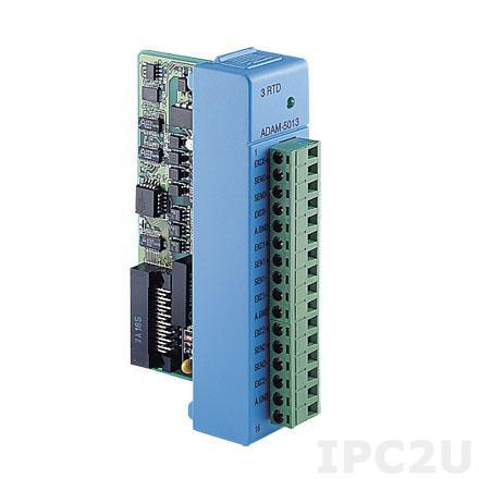 ADAM-5013-A2E Модуль ввода, 3 канала аналогового ввода сигнала с термосопротивления