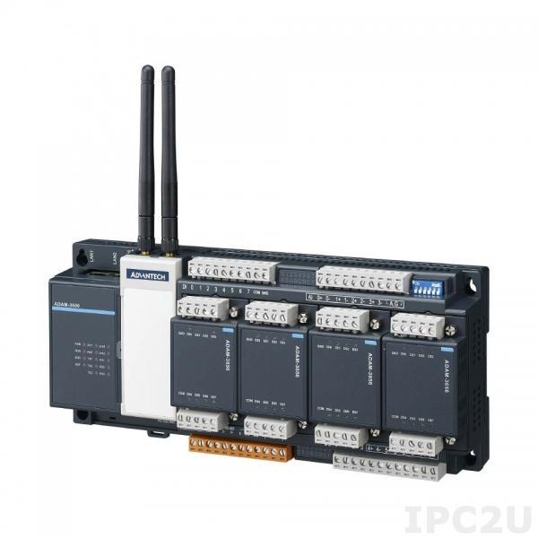 ADAM-3600-C2GL1A1E Программируемый контроллер сбора и передачи данных с корзиной расширения , 4 слота расширения, 8AI / 8DI / 4DO, -40...+70C с возможностью установки дополнительно модуля беспроводной связи Zigbee/ Wi-Fi/ 3G/ 4G/ GPRS