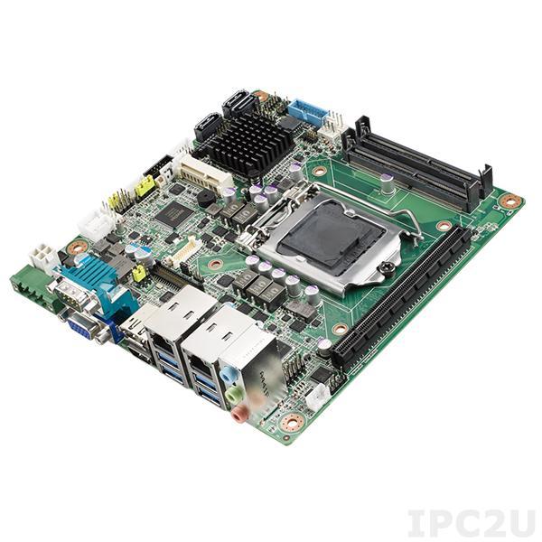 AIMB-275VG-00A1E Процессорная плата Mini-ITX, Intel Сore i3/i5/i7/Pentium, LGA 1151, VGA/DP/HDMI, Intel Q170, 2x260-pin DDR4 SO-DIMM, 2xCOM, 8xUSB, 3xSATA, 1xGbE LAN, 1xPCIe x16, 1xMini PCIe, 1xM.2