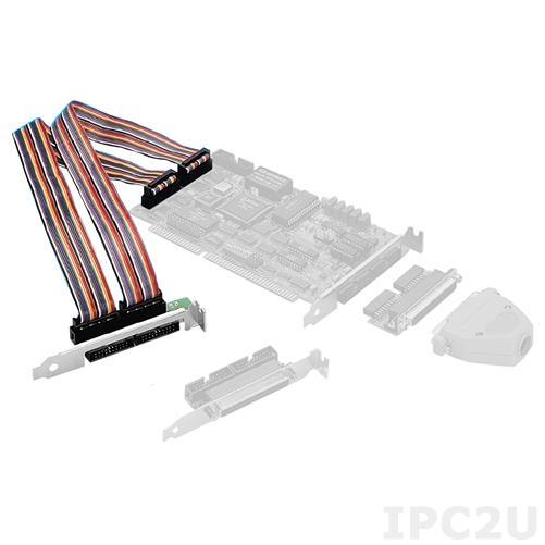 PCL-10502-AE Переходник с 2 разъемов 20-pin на DB-37 с двумя плоскими кабелями, до 50В